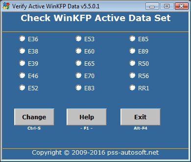 WinKFP Choose Active Model.