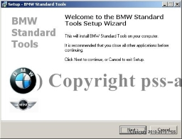 BMW Standard Tools Installation.